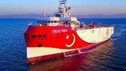 File photo of the Turkish seismic research vessel 'Oruc Reis'