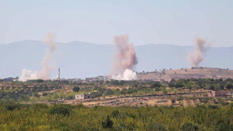 Bombardements dans la province d'Idleb, le 15 septembre 2020.