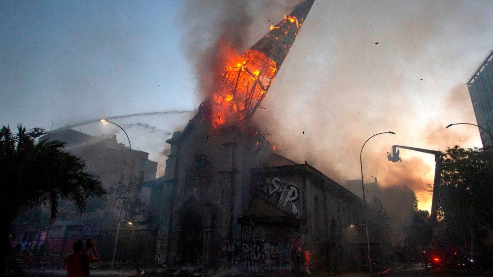 Igreja La Assunción no centro de Santiago do Chile