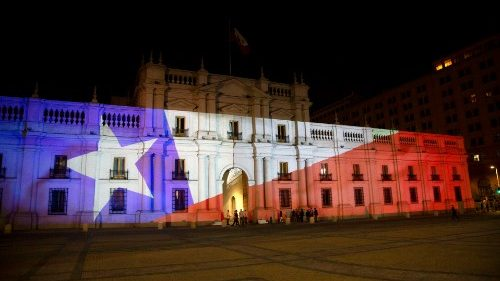 View of La Moneda presidential palace on 25 October 2020