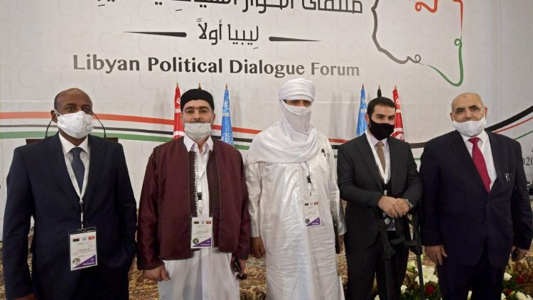 Delegates at the Libyan Political Dialogue Forum