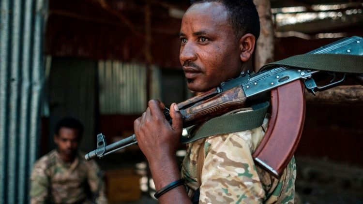 A member of the Amhara Special Forces