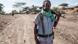 File photo of an Ethiopian militiaman