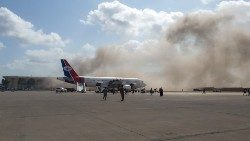 The blast at Aden Airport on 30 December shortly after the arrival of a plane carrying members of a new unity government