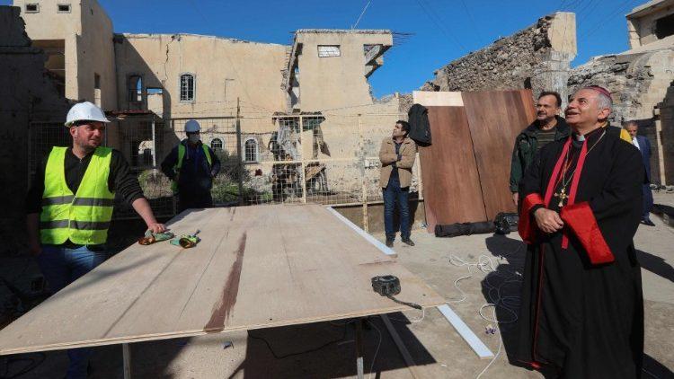 Công việc trùng tu đang được tiến hành tại Mosul cho chuyến viếng thăm của Đức Thánh Cha