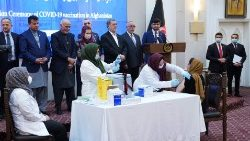 Afghanistan kicked off its Covid-19 vaccination programme on 23 Feb. 2020, in Kabul.