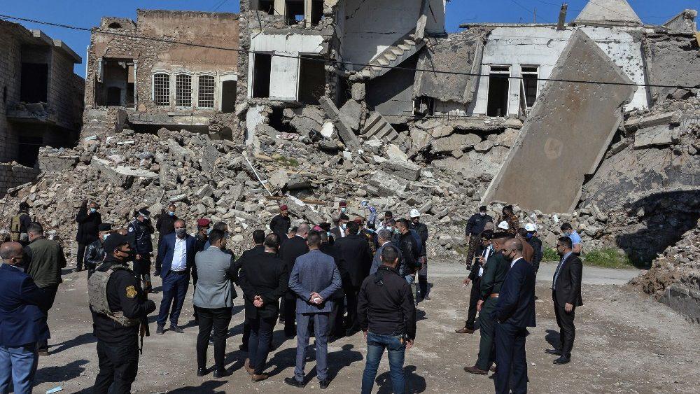 Destrucción en Mosul
