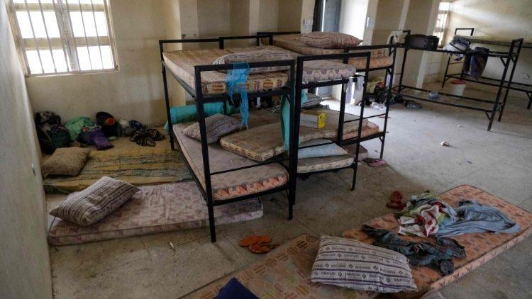 Les dortoirs vides des jeunes filles suprises dans la nuit de jeudi à vendredi par des hommes armés