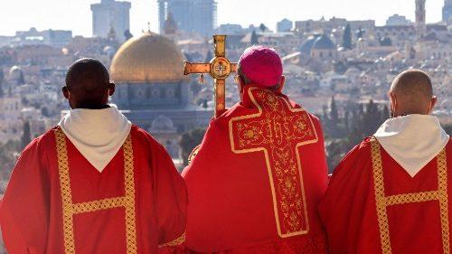 Un Dimanche des Rameaux en présence de fidèles à Jérusalem