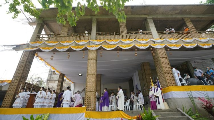 Mass was celebrated Wednesday at the site of the first Mass on Philippine soil