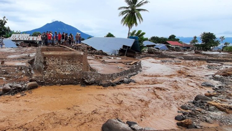 The aftermath of flash floods in East Flores, Indonesia.