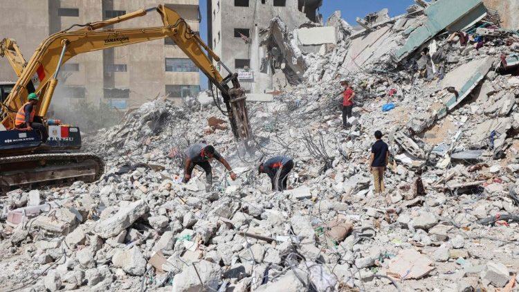 Gaza après les bombardements, le 22 juin 2021.