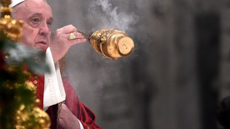File photo of Pope Francis celebrating Mass on 29 June 2021