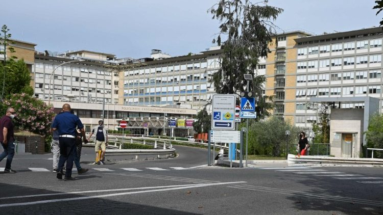 Agostino Gemelli Hospital where Pope Francis was admitted on Sunday afternoon