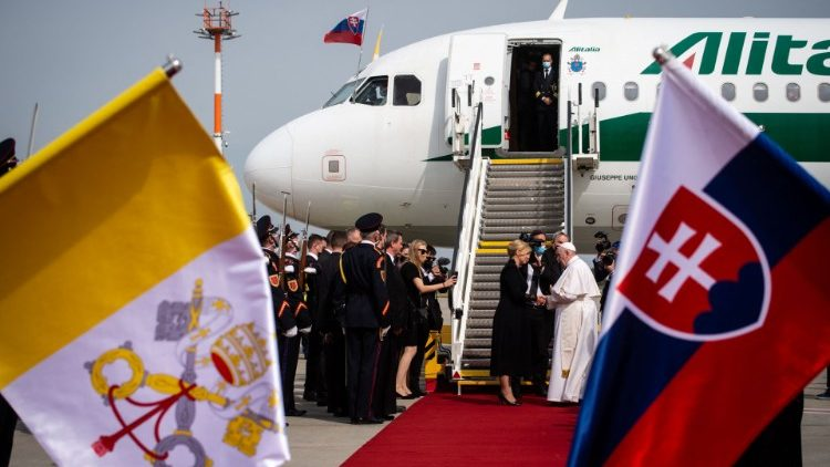 Pope Francis departs from Slovakia to Rome