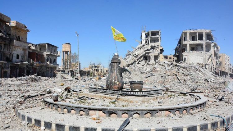Al-Na'im roundabout after liberation from the so-called Islamic State, Syria