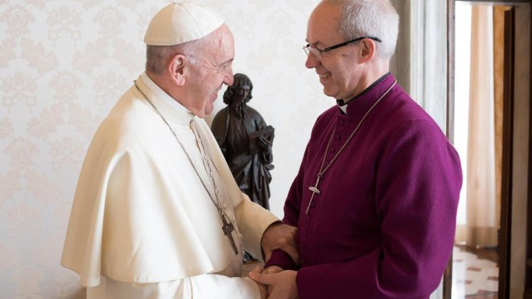 Pope Francis meets the Archbishop of Canterbury Justin Welby