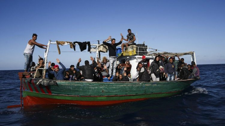 A boat filled with migrants attempting to cross the Mediterranean Sea - file photo from October, 2017