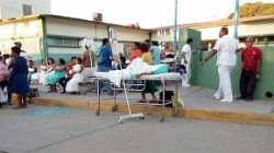 Patients being evacuated from a hospital in Oaxaca, Mexico, following an earthquake on Friday.