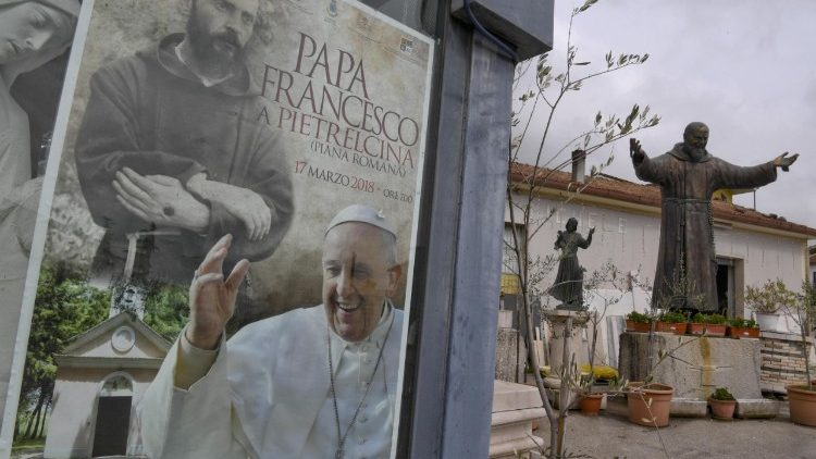 Pope Francis visiting St Pio sites