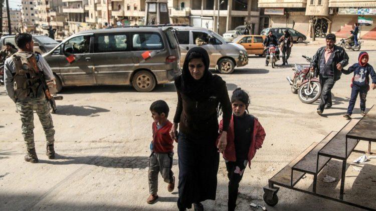 Vie di Afrin sotto il controllo dell'esercito turco