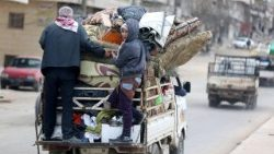 displaced civilians from Afrin in northwest Syria