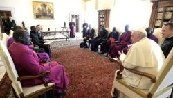 Pope Francis meets delegation of the Council of Churches of South Sudan in the Vatican
