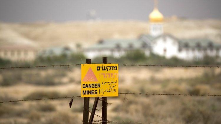 Heiligland Minenräumung Des Klosters Der Taufe Jesu