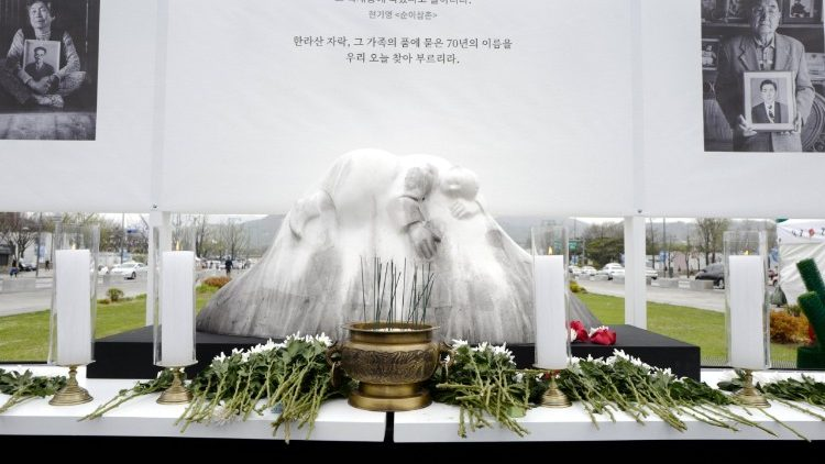 Commemoration of the 70th anniversary of the Jeju Massacre in Seoul, S. Korea, on April 3, 2018.