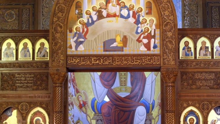 Coptic Easter mass in Cairo