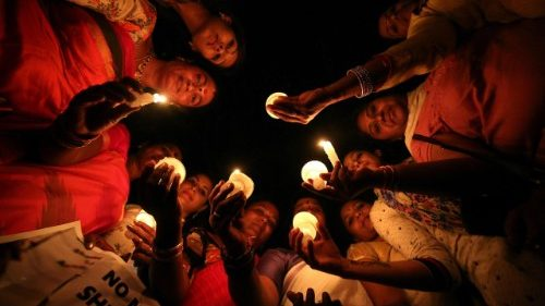 Candle light vigil for Asifa Bano in Bangalore