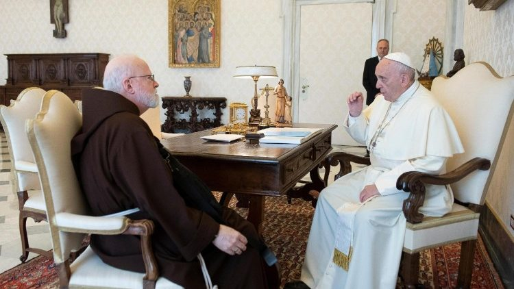 Card. O'Malley con Papa Francesco