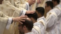 Pope Francis presides a Mass with Priestly Ordinations