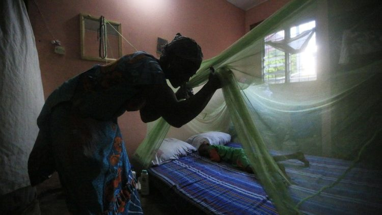 Sleeping under a mosquito net is regarded as the most effective means of preventing malaria.
