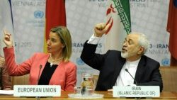 High Representative of the EU for Foreign Affairs and Security Policy Federica Mogherini and the Iranian Foreign Minister