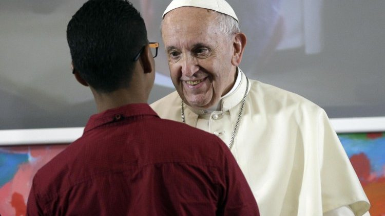 Pope Francis at the Scholas Occurrentes organization