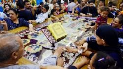 File photo: Relatives of the murdered Christians mourn their loss