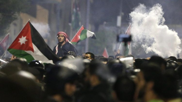Protests against new austerity measures in Jordan