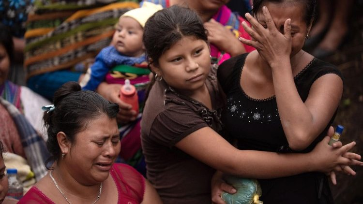 Family and friends weep at funeral for Guatemala volcano victim