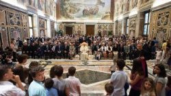 VATICAN POPE FRANCIS in the celmentine Hall