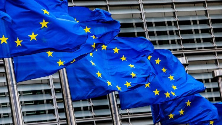 BELGIUM EU FLAGS MIGRATION