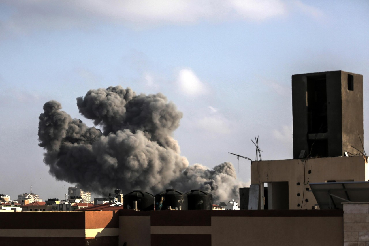 At least two Palestinians were killed in Gaza after an Israeli airstrike over the weekend