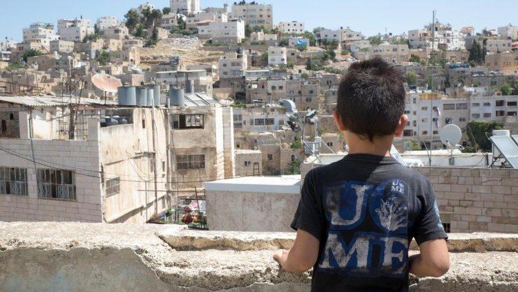 Bambino nella Striscia di Gaza