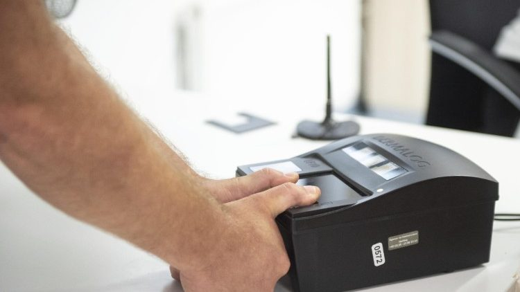 Fingerprint scanner for arrivals into the country