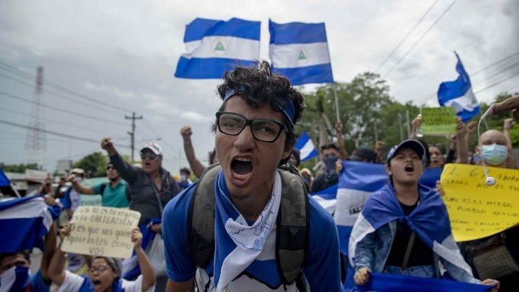 University students protest in Managua