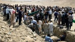 Funerals of victims of a suicide attack in Afghanistan