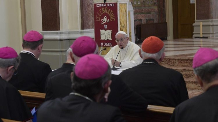 Pope Francis meets members of the Irish Bishops Conference