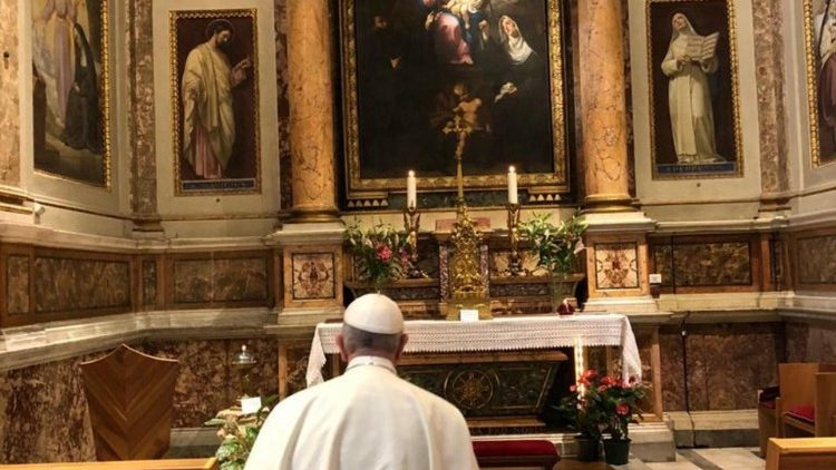 Pope Francis at the Basilica of St Mary Major