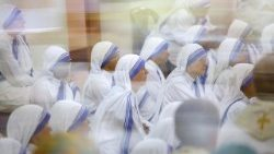 Members of the Missionaries of Charity founded by Mother Teresa of Calcutta