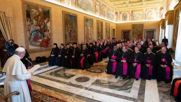Pope addresses new Bishops
